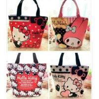 凱蒂貓週邊商品推薦到手提包 Hello Kitty可愛帆布手提袋 便當袋 購物袋 帆布包【包包阿者西】