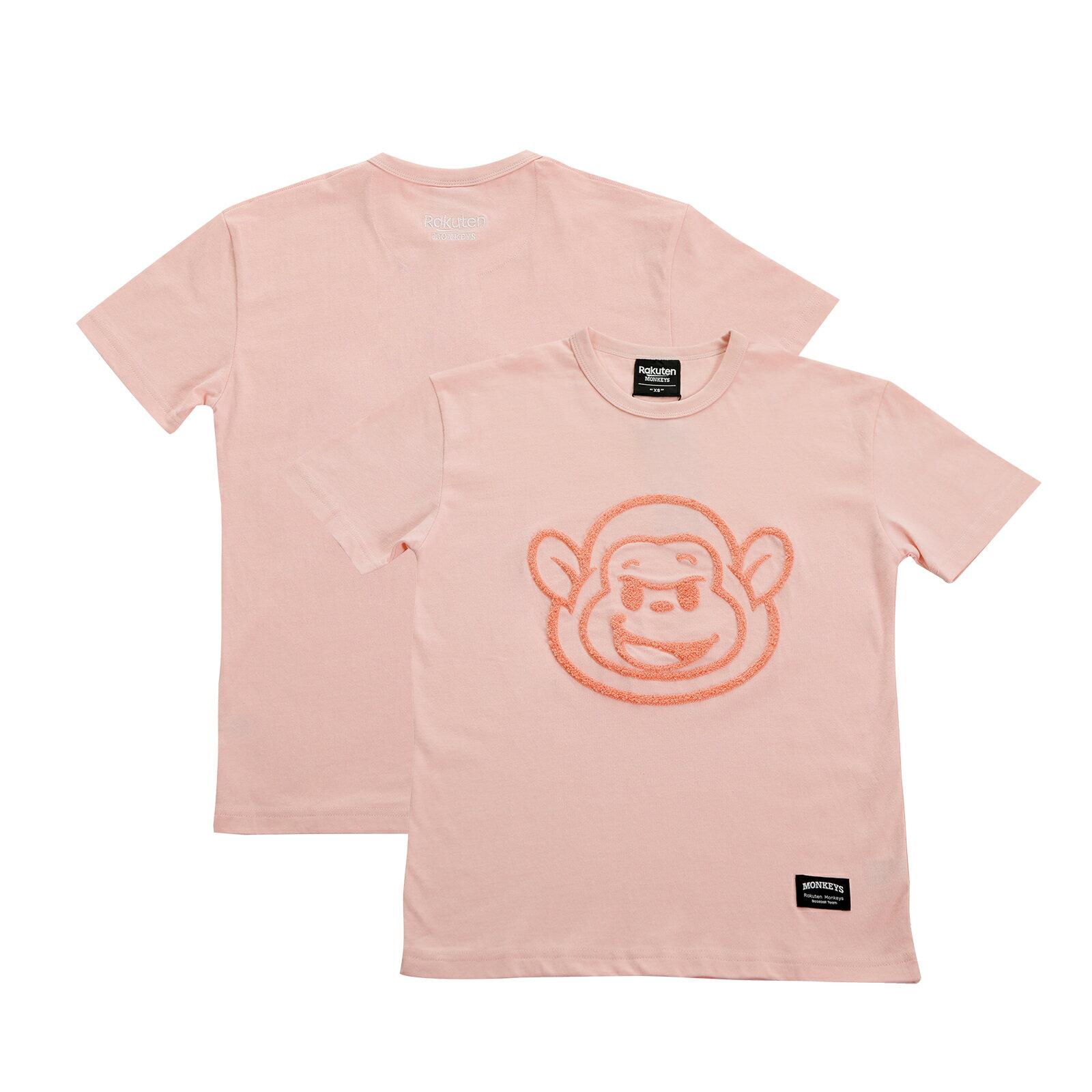 Rocky毛巾繡短T-粉 0