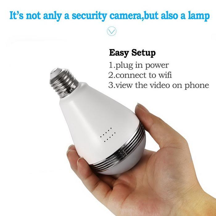 360 degree Panoramic 960P wifi Security Camera 4