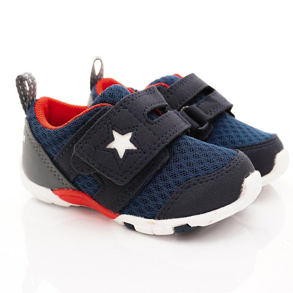 日本月星Moonstar機能童鞋四大機能系列寬楦頂級學步鞋款8885深藍(寶寶段) 618購物節