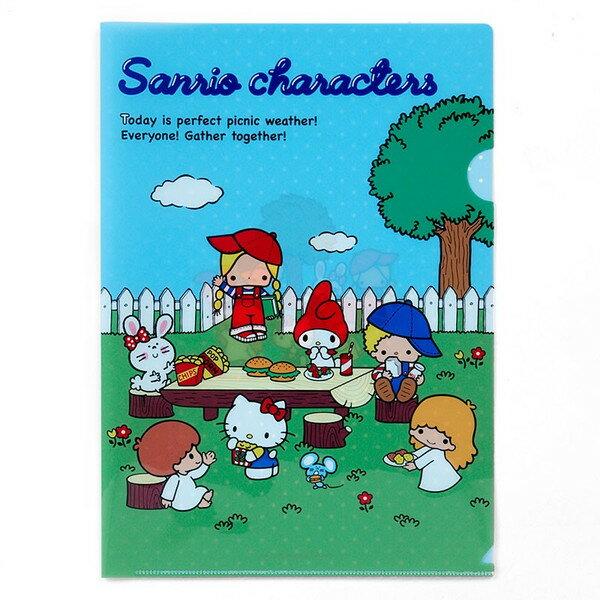 【真愛日本】16082000065A4文件夾-MX70s庭園   三麗鷗 Hello Kitty 凱蒂貓   收納 辦公用品 資料夾