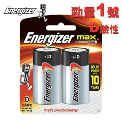 Energizer 勁量 1號 D 鹼性電池 72顆入 /箱
