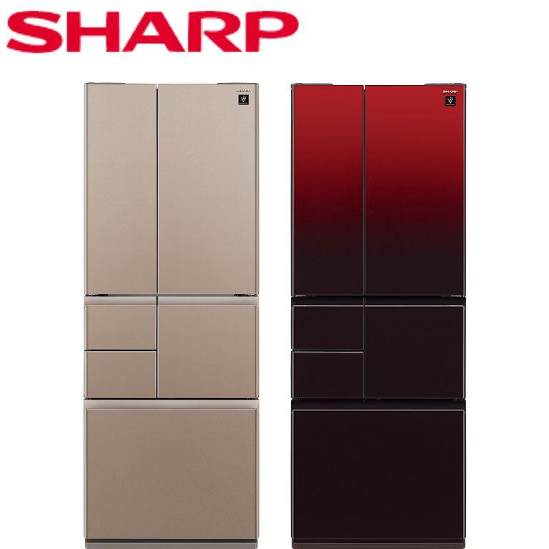 全館回饋10%樂天點數★SHARP夏普 501L 日本原裝六門對開冰箱 SJ-GT50BT-R SJ-GT50BT-T (R星鑽紅 / T星鑽棕)