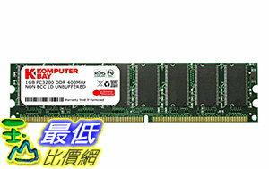 [106美國直購] KOMPUTERBAY 1GB DDR DIMM(184 PIN)400Mhz PC3200 DDR400 DESKTOP MEMORY[Personal Computers]