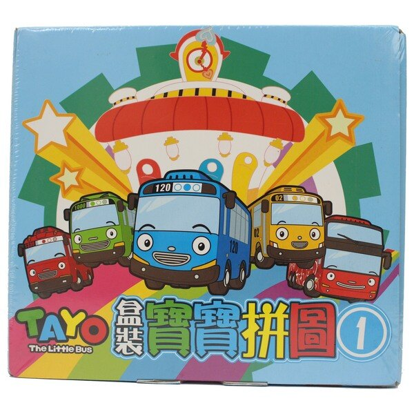TAYO小巴士寶寶拼圖拼圖(1) 6片~10片拼圖 PUZ0908A/一盒入{定150}盒裝 MIT製~正版授權~