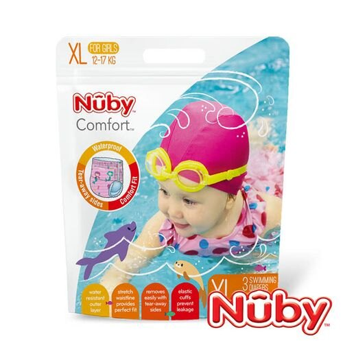 Nuby 游泳尿布 / 游泳戲水褲3片裝(L / XL)(男 / 女)★衛立兒生活館★ 2
