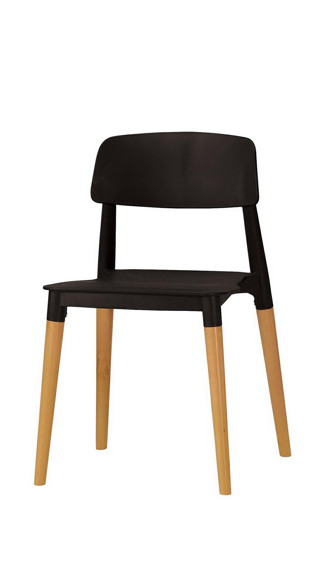 【尚品傢俱】CM-522-9   奧斯本造型椅(黑)(實木)