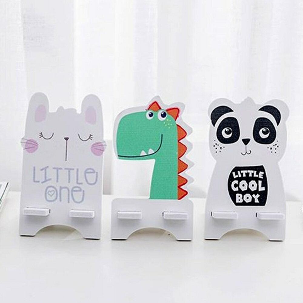 DIY恐龍熊貓兔子印刷木塑板手機支架【BlueCat】【JD1424】