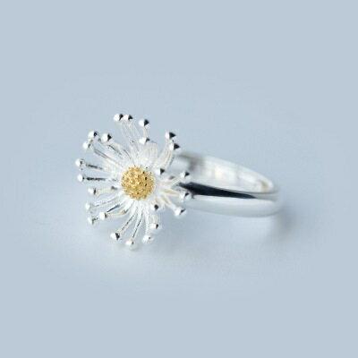 ~925純銀戒指開口戒~高貴迷人花朵 七夕情人節 女飾品73dt527~ ~~米蘭 ~