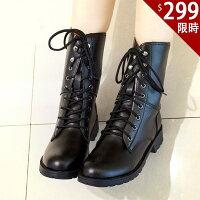 馬丁靴款-百搭新款 韓版軍靴 時尚流行 英倫風短靴【AN SHOP】 0