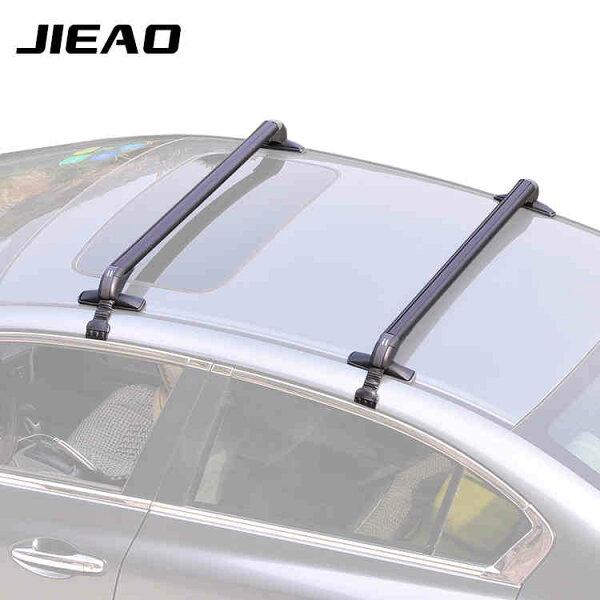 美琪(安全置物)汽車行李架橫桿通用鋁合金帶鎖車頂架橫桿自行車架