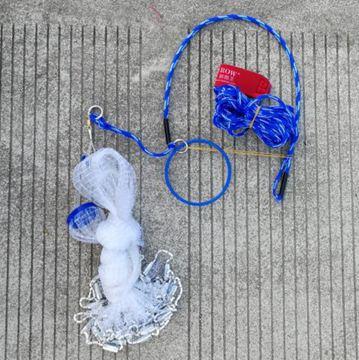 傻瓜魚網美式手拋網撒網輪胎線魚網漁網自動捕魚易拋網飛輪LX