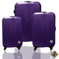 ✈Miyoko時尚簡約系列超值三件組輕硬殼旅行箱/行李箱 0