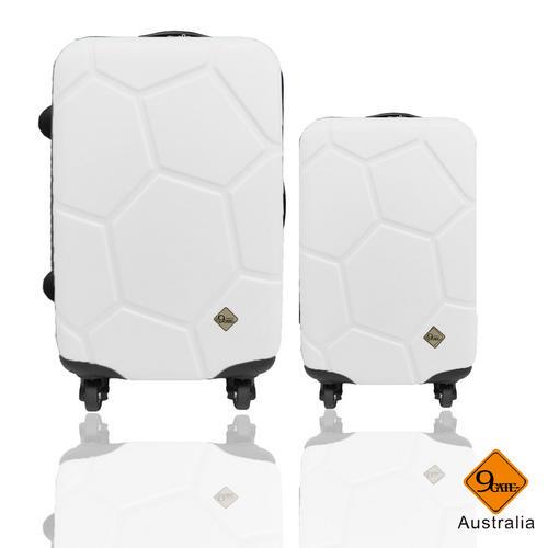 Gate9 經典世紀足球系列28吋+20吋輕硬殼旅行箱 / 行李箱 1