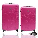 Just Beetle世界地圖系列超值兩件組28吋+24吋輕硬殼旅行箱 / 行李箱