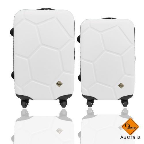 Gate9經典世紀足球系列28吋+24吋輕硬殼旅行箱行李箱