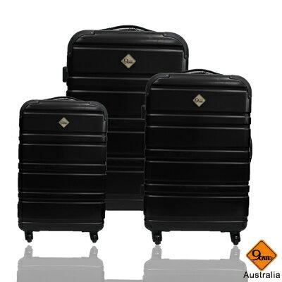 Gate9 經典橫紋系列~PC亮面輕硬殼3件組旅行箱 / 行李箱 0