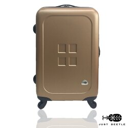 Just Beetle魔方鈕扣ABS霧面24吋輕硬殼旅行箱/行李箱
