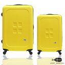 ✈✈Just Beetle魔方鈕扣ABS霧面超值兩件組28吋+20吋輕硬殼旅行箱 / 行李箱