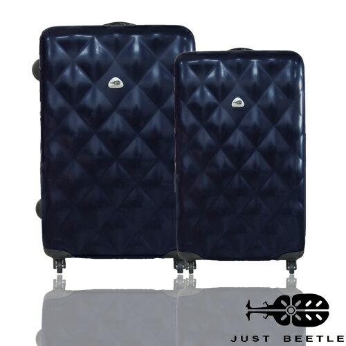 <br/><br/>  JUST BEETLE 菱格系列PC材質輕硬殼24吋+20吋旅行箱/行李箱<br/><br/>