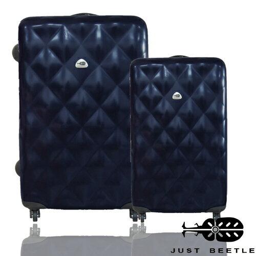 <br/><br/>  JUST BEETLE 菱格系列PC材質輕硬殼28吋+20吋旅行箱/行李箱<br/><br/>