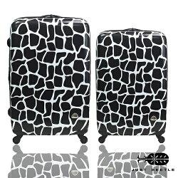 Just Beetle動物樂園系列之長頸鹿紋24吋+20吋輕硬殼旅行箱/行李箱