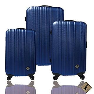 ✈Miyoko條碼系列經典三件組輕硬殼旅行箱 / 行李箱 0