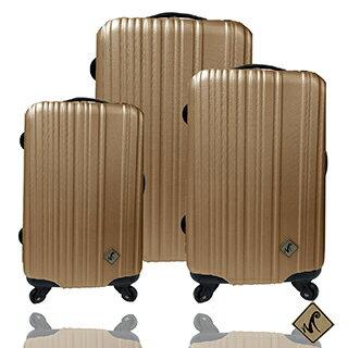 ✈Miyoko條碼系列經典三件組輕硬殼旅行箱 / 行李箱 1