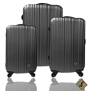 ✈Miyoko條碼系列經典三件組輕硬殼旅行箱 / 行李箱 2