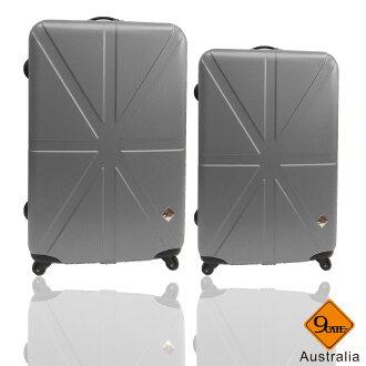 Gate9米字英倫系列兩件組28吋+24吋輕硬殼旅行箱/行李箱 0