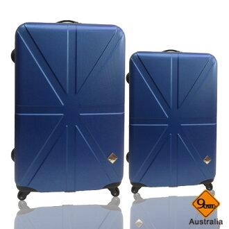 Gate9米字英倫系列兩件組28吋+24吋輕硬殼旅行箱/行李箱 2