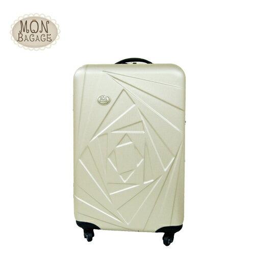 ★MON BAGAGE花開富貴ABS輕硬殼20吋旅行箱/行李箱