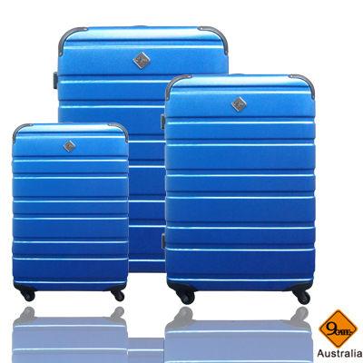 Gate9羅馬橫紋系列ABS霧面三件組旅行箱/行李箱