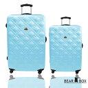 (聖誕交換禮物推薦)Bear Box 時尚香奈兒系列超值兩件組28吋+20吋霧面輕硬殼旅行箱/行李箱