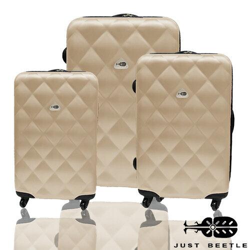 ✈Just Beetle經典菱紋系列ABS輕硬殼3件組旅行箱 / 行李箱 2