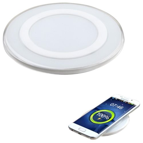 Insten For Samsung Galaxy S6 & S6 Edge Qi Wireless Charger Charging Plate Pad (with Pakage) - White 0