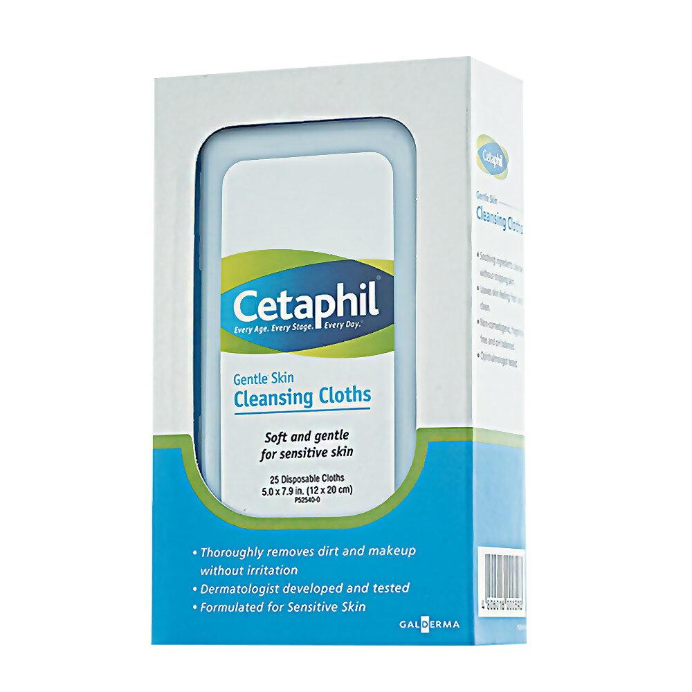 【Cetaphil舒特膚】溫和多效潔膚棉(25片/盒)