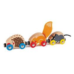【免運費】《 德國 Hape 愛傑卡 》 Hape 軌道系列 - 可愛動物火車