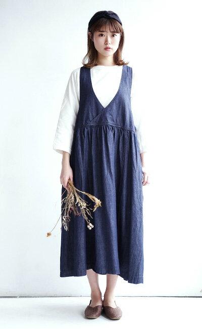 日本e-zakka / 長版無袖牛仔連衣裙 / 32593-1801251 / 日本必買 代購 / 日本樂天直送(5900) 4