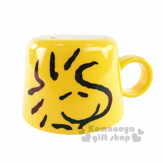 〔小禮堂〕史努比 寶特瓶 杯蓋《黃.糊塗塔克.大臉.140ml》