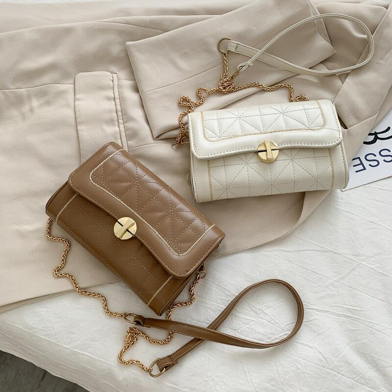 女包夏季小包包2020新款潮繡線小方包鏈條單肩包潮流斜挎包