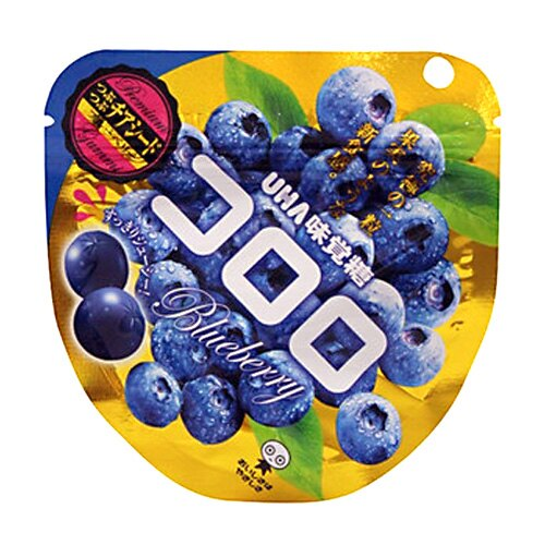 [限時特賣][人氣日本零食]UHA味覺糖100%果汁軟糖-藍莓 40g *賞味期限:2017/09/28*