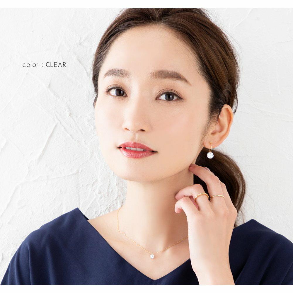 日本CREAM DOT  /  イヤリング フープイヤリング 金属アレルギー ニッケルフリー 18kコーティング レディース 樹脂イヤリング ノンホールピアス 痛くない ビジュー 大人 上品【一部予約:1月中旬】  /  k00297  /  日本必買 日本樂天直送(1098) 7