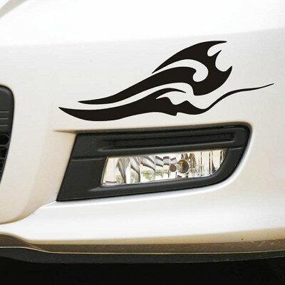 燈眉圖貼 1對 車身貼紙 遮割痕 車貼 燈眉車貼 引擎蓋貼 葉子板 拉花 重機 機車 自行