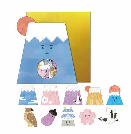 *小徑文化*日本進口 Mind Wave Nippon seal 貼紙包 - 富士山 ( 77847 )