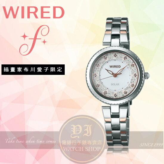 WIREDf日本原創插畫家布川愛子太陽能限定腕錶VJ17-0DW0KSAY8031X1公司貨