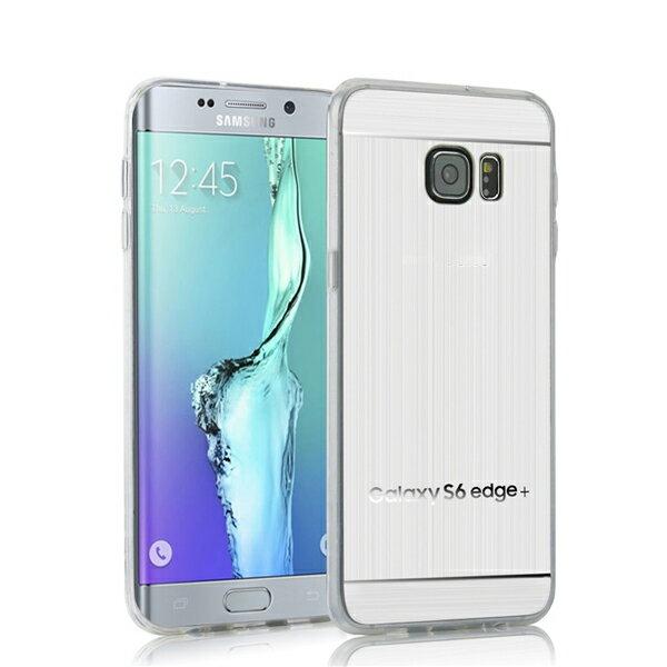 【拉絲TPU套】三星 Samsung Galaxy S6 edge+ G9287/S6 Edge Plus 電鍍軟套/輕薄保護殼/背蓋/髮絲紋手機殼/外殼-ZX