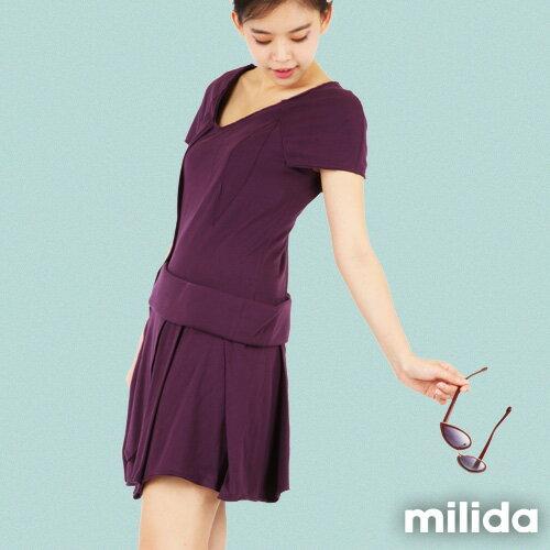 【Milida,全店七折免運】-夏季尾聲-素色款-厚棉立體造型設計 5