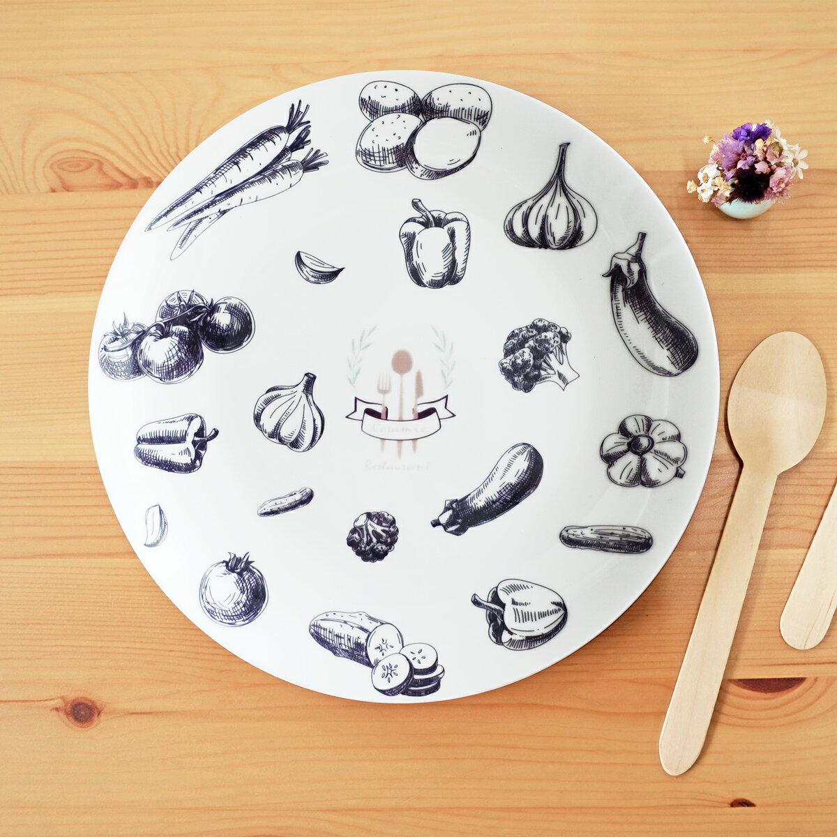 ~陶緣彩瓷~豐富食材廳盤~8吋骨瓷盤   可微波   安全   歐風餐具   餐具訂製