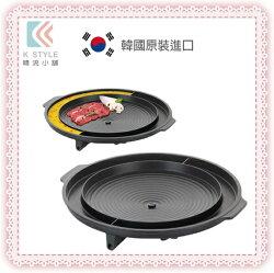 韓國  Kitchen Flower 圓形烘蛋烤盤 37cm 韓式烤肉 韓式料理 烘蛋 起司玉米 中秋烤肉